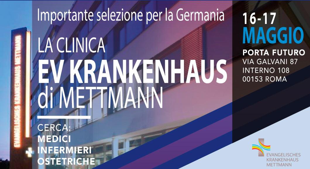 16+17 Mai 2019 Rom: Personalauswahl für grosses Klinikum nähe Düsseldorf: Assistenzärzte/Pfleger/Hebammen