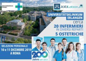La rinominata clinica universitaria di Erlangen assume nuovamente a infermieri e ostetriche