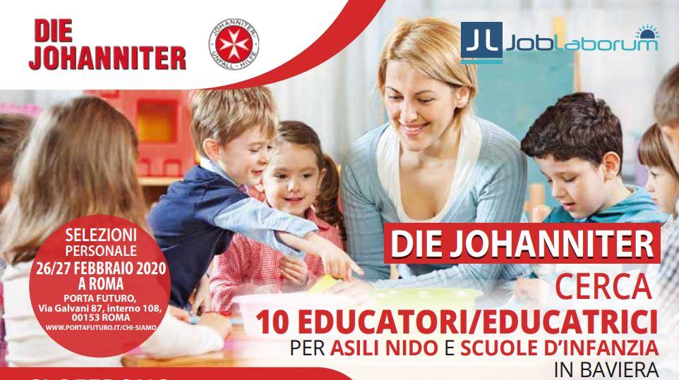 EDUCATORI/TRICI:PROSSIMA SELEZIONE  – 26/27 FEBBRAIO A ROMA-PER ASILI NIDO IN BAVIERA/GERMANIA