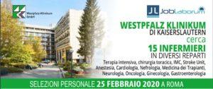 INFERMIERI: PROSSIMA SELEZIONE DI PERSONALE PER LA GERMANIA: 25.02.20 A ROMA